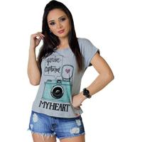 Camiseta Wevans Camera Photo Mescla