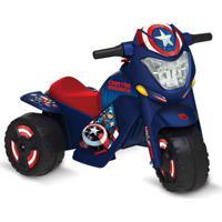 Veículo Elétrico - Moto - 6V - Disney - Marvel - Capitão América - Bandeirante