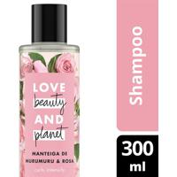 Shampoo Love Beauty & Planet Manteiga De Murumuru & Rosa 300Ml