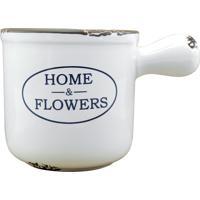 Vaso Kasa Ideia Branco Home Flowers
