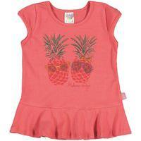 Blusa Feminino Bebê - Cravo Blusa Rosa - Bebê Menina - Cotton - Ref:34505-385-P