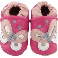 Pantufa Catz Calçados Infantil Couro Nicky Borboleta Feminina - Feminino-Pink