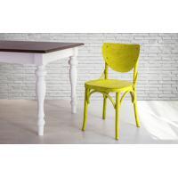 Cadeira De Madeira Country Amarela Torneada Com Encosto E Assento Anatômico Eléonore - 44X49,5X82,5 Cm
