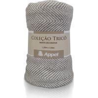 Manta Appel Tricô Decorativa P/ Cama E Sofá 1,20Cm X 1,50Cm Appel