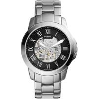 Relógio Masculino Fossil Automático Me3103/1Pn 43Mm Pulseira Aço Prata - Masculino-Incolor