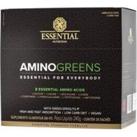 Amino Greens (30 Sachês De 8G) Essential Nutrition - Unissex
