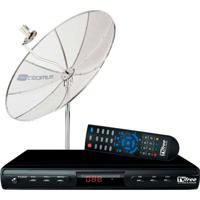 Kit Tv Free - Antena 1,5M + Receptor Monoponto Digital/Analógico Tvft15 - Cromus