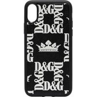 Dolce & Gabbana Capa De Iphone X Com Estampa De Coroa - Preto