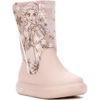 Bota Cano Longo Disney Infantil Para Menina - Rosa