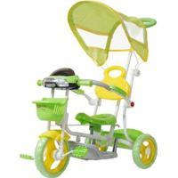 Triciclo Infantil Passeio Com Empurrador 2 Em 1 Motoca Bw003 - Unissex-Verde