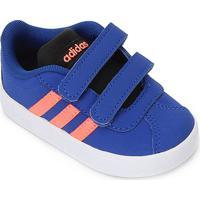 Tênis Infantil Adidas Vl Court 2.0 - Unissex-Azul