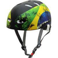 Capacete De Proteção Bicicleta Patins Skate Brasil - Kraft