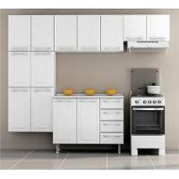 Cozinha Itatiaia Criativa Compacta 4 Pecas Branco Paneleiro Armario Aereo E Gabinete