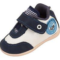 Tênis Infantil Plis Com Velcro - Masculino-Branco+Azul