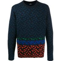Ps Paul Smith Patterned Long Sleeve Jumper - Azul