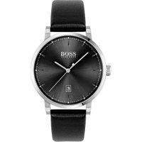 Relógio Hugo Boss Masculino Couro Preto - 1513790