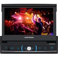 """Dvd Player Automotivo Positron Sp6520 Com Tela Retrátil Touch Screen De 7"""" , Tv Digital, Bluetooth, Rádio Fm, Entradas Usb E Entrada Para Câmara De Ré"""
