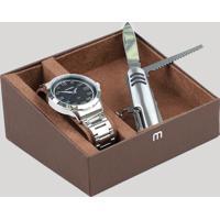Kit De Relógio Analógico Mondaine Masculino + Canivete - 99142G0Mvne1K1 Prateado - Único