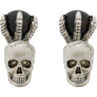 Alexander Mcqueen Abotoaduras Skull And Claw - Metálico