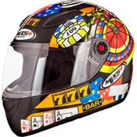 Capacete Mixs Helmets Fokker Casino - Preto
