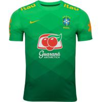 Camisa Pré-Jogo Da Seleção Brasileira 2020 Nike - Masculina - Verde