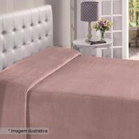 Manta Flanel Casal- Rosa Claro- 150X220Cm- Buettbuettner
