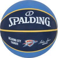 Bola De Basquete Spalding Oklahoma City Thunder - Azul/Azul Esc