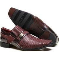 02d444ec93 ... Sapato Social Couro Calvest Textura E Costura Manual Masculino -  Masculino-Bordô