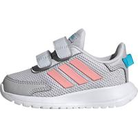 Tênis Infantil Adidas Tensaur Run Velcro Feminino - Unissex-Cinza+Rosa