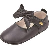 Sapato Doce Bebê Em Couro Preto