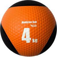 Medicine Ball Pista E Campo De Borracha Inflável Premium 4Kg - Unissex