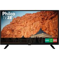 "Tv Led 28"" Ptv28G50D Hd Usb Hdmi 60Hz Philco"
