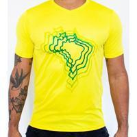 Camiseta Super Bolla Brasil Mapa - Unissex