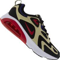 Tênis Nike Air Max 200 - Masculino - Preto/Vermelho