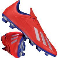 Chuteira Adidas X 18.4 Fg Campo Vermelha