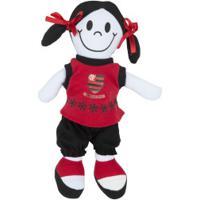 Boneca Do Flamengo Girl Torcida Baby - Vermelho/Preto
