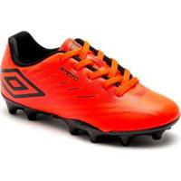Chuteira Campo Infantil Umbro Speed Iv Jr - Masculino-Coral