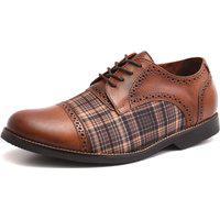 Sapato Social Shoes Grand Vintage Marrom Tamanho Especial