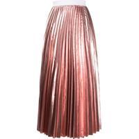P.A.R.O.S.H. Pleated Midi Skirt - Rosa