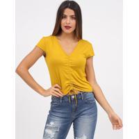 Blusa Com Franzidos- Amarela- Tritontriton
