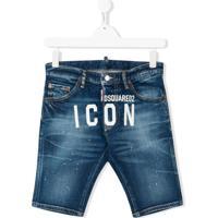 Dsquared2 Kids Bermuda Jeans Icon - Azul