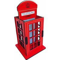 Caixa Organizadora Porta Objeto Cabine Telefônica 22X11X10Cm