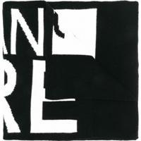 Versace Jeans Couture Echarpe Com Logo - Preto