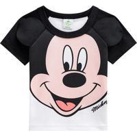 Camiseta Mickey Mouseâ®- Preta & Branca- Baby- Brbrandili
