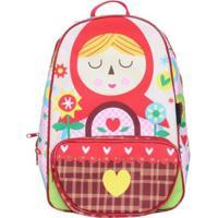 Mochila Infantil Chapeuzinho Vermelho - Feminino-Vermelho