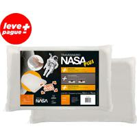 Kit Promocional 2 Travesseiros 100% Nasa Plus 50X70Cm Viscoelástico.