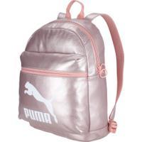 Mochila Puma Prime Backpack Metallic - 10 Litros - Feminina - Rosa