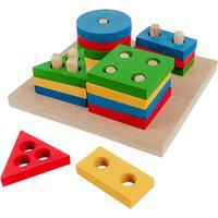Prancha De Seleção Geométrica Pequena Carlu 16 Peças Colorido