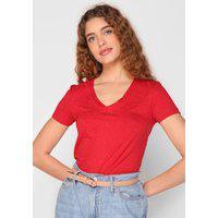 Blusa Malwee Flocada Vermelha