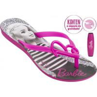 Sandália Infantil Rasteira Grendene Barbie (Com Brinde)
